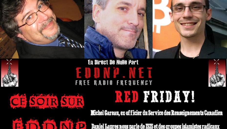 CE VENDREDI 20H : C'EST LE RED FRIDAY SUR EDDNP!