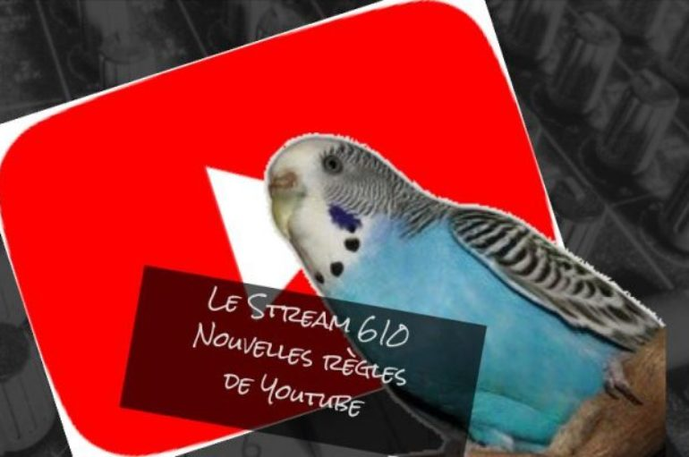 Le Stream 610 – Les nouvelles règles de Youtube et les perruches