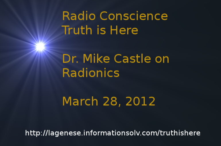 Dr.Mike Castle on Radio Conscience 28 mars 2012