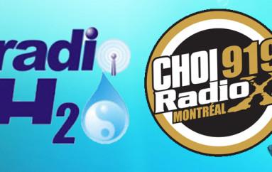 Communiqué de Presse: Radio X Montréal annonce l'acquisition de la station internet de diffusion RadioH2O!