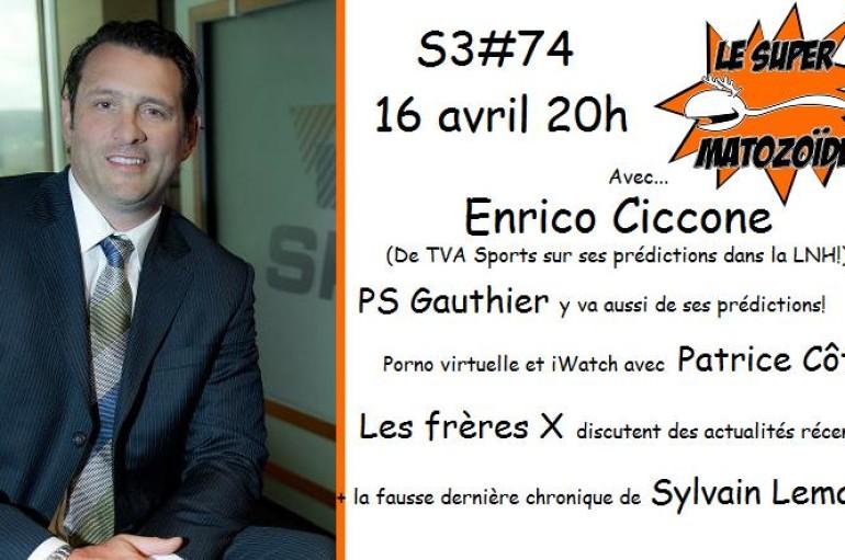 Le Super Matozoïde – S3#74 – Les prédictions d'Enrico – 16 avril 2015