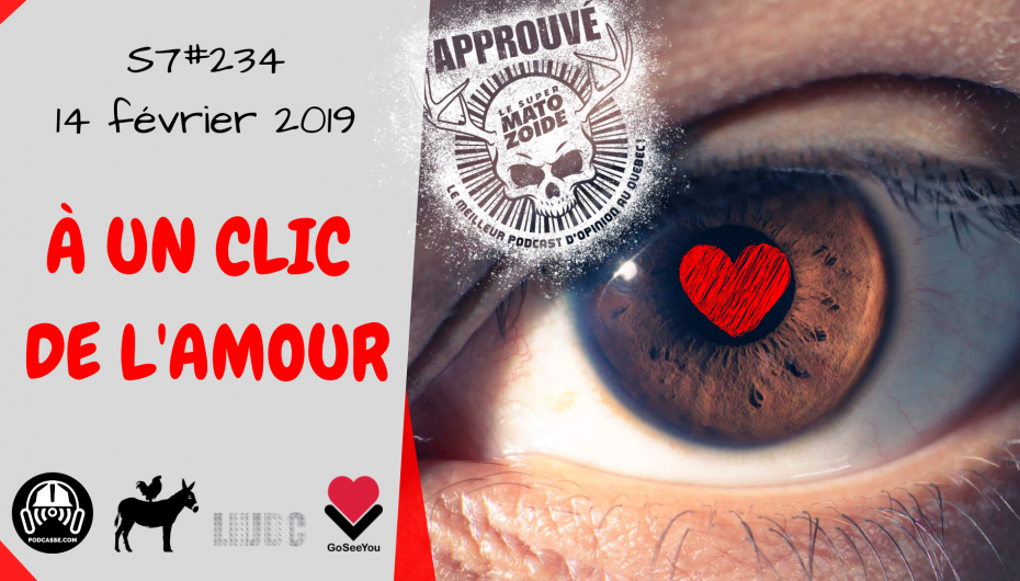 Le Super Matozoïde – S7#234 – À un clic de l'amour – 14 février 2019