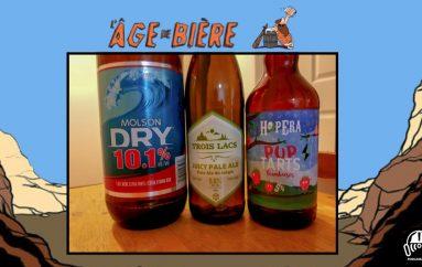 L'Âge de Bière – EP18: Molson Dry 10.1%, Juicy Pale Ale & Pup Tarts