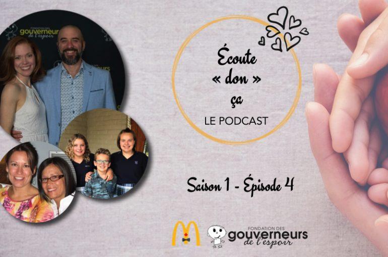 Écoute «don» ça – S01 – EP04: Des soeurs incroyables et Catherine Bérubé et Gabriel Allard