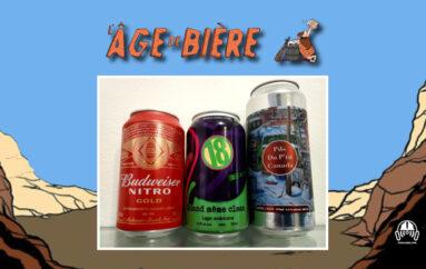 L'Âge de Bière – S02 – EP31: Budweiser Nitro Gold, Quand même clean et Pils du P'tit Canada
