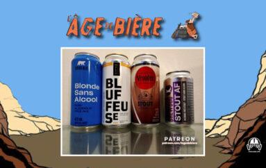 L'Âge de Bière – S03 – EP02: Sans Alcool #5 – Pale Ale de Boréal, Bluffeuse et Stout de Vrooden